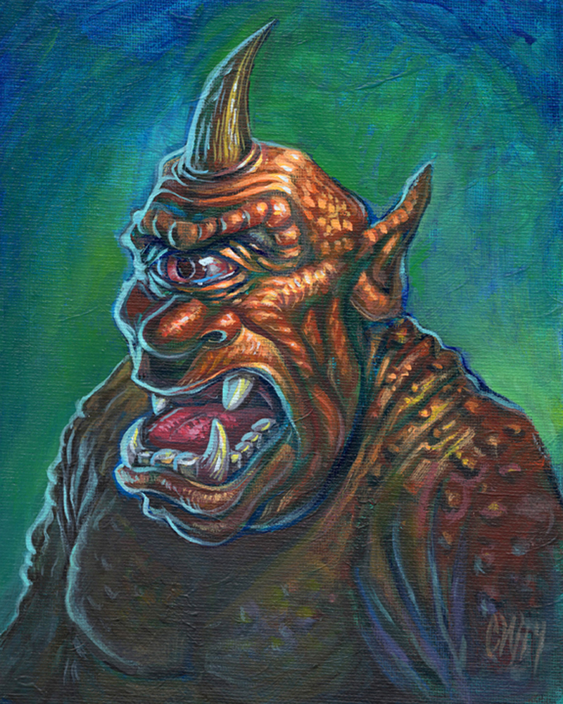 cyclops harryhausen tribute painting wills studio
